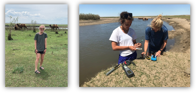 KSU 2018 MAPS REU student returns in 2019 to continue her research, but first takes a side trip to Mongolia